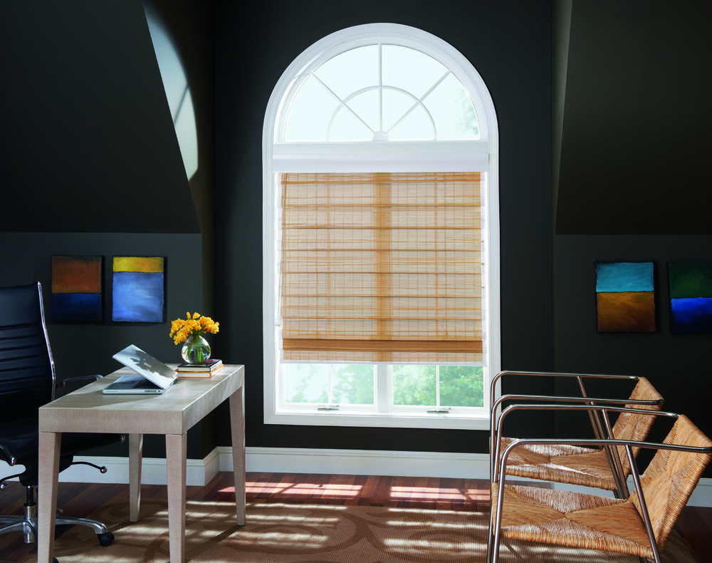 Indianapolis Woven Wood Shade Installation