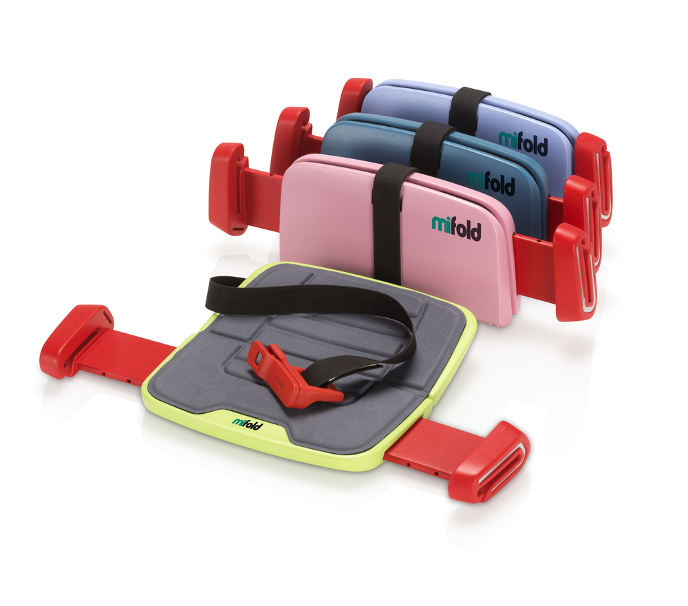 A new iPad-sized booster seat called mifold works by lowering the adult seat belt so it fits a child