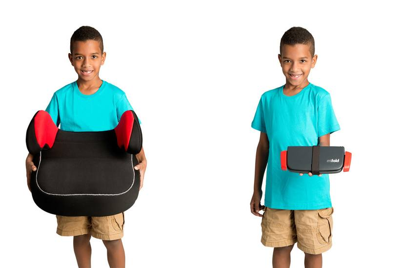 The mifold is 10X smaller than a normal booster seat.