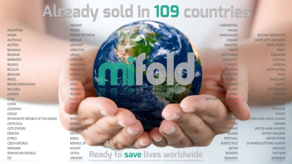 The 109 countries where we have already pre-sold mifold