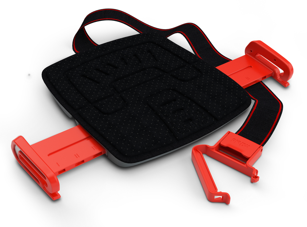 A beautiful production mifold Grab-and-Go booster seat