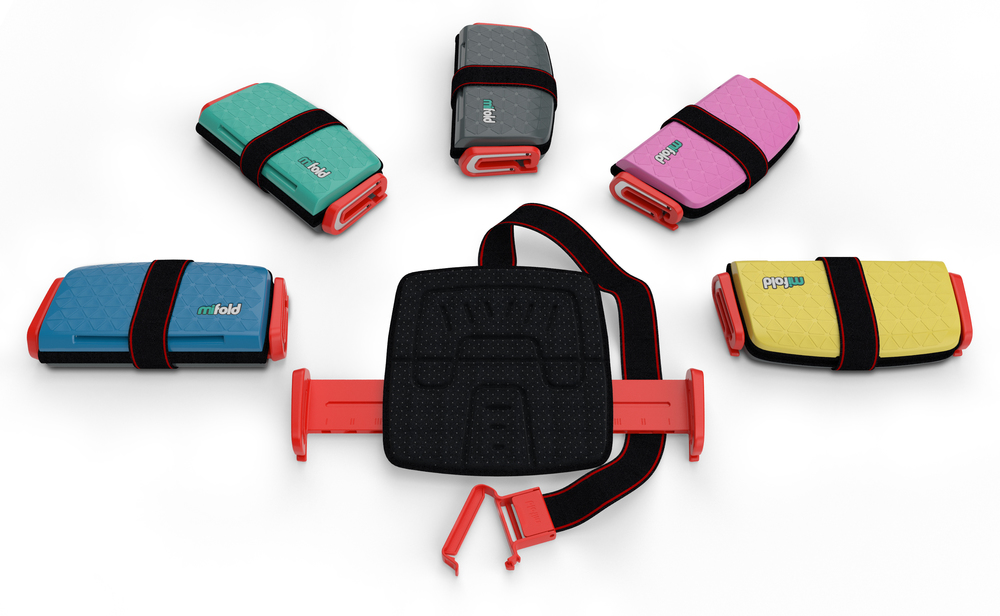 Six exciting mifold Grab-and-Go booster seat colours