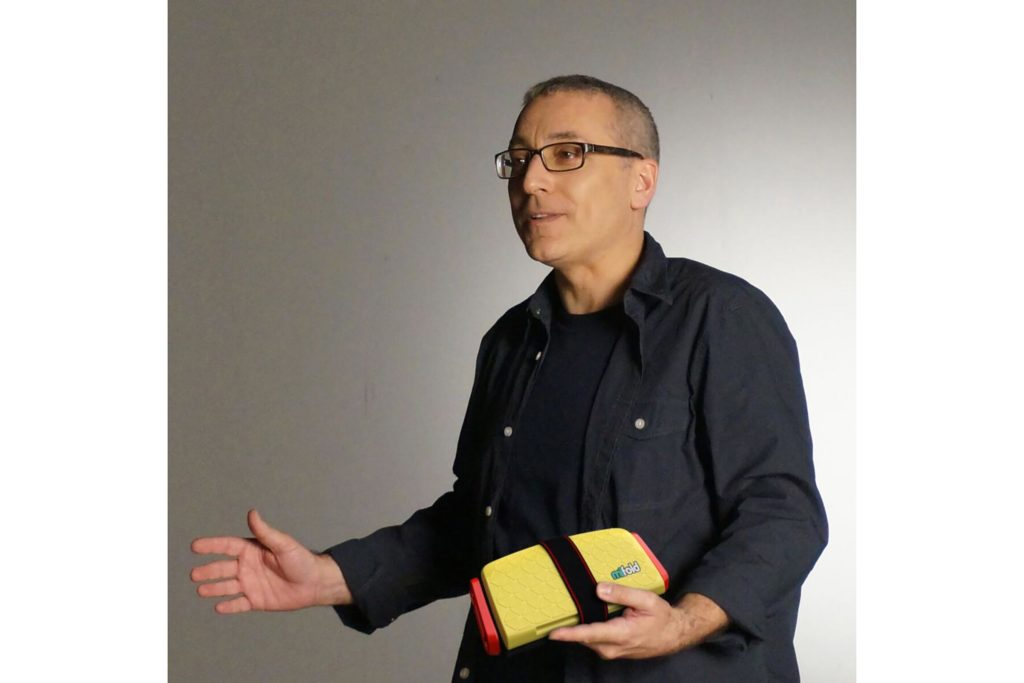 """Jon Sumroy, the founder and creator of the  mifold Grab-and-Go booster seat , says he got the idea for his product around 2002 during the endless carpool shuffle that occupies so much of suburban life. Jon lived in Englewood, NJ, at the time and was working at a tech startup. """"I had three young children and they were all using car seats regularly, or they were carpooling to school in someone else's car without the right protection, and it really bothered me,"""" he says. Sumroy thought a compact version that was safe, light, easy to carry or even put in a car's glovebox would be a great idea. Then, in 2012 a friend sent him a magazine article that said 50 percent of children don't have a car seat when they're carpooling. Sumroy says, """"That old light bulb went off: Nobody had yet solved the problem."""" Sumroy spent countless evenings and weekends in his garage designing the first prototype himself, fashioning it out of canvas and straps. A year later, he launched mifold, now the most advanced, compact, and portable child car safety seat in the world. It's more than 10 times smaller than a regular booster and just as safe. It's intended for children between four and 12 years old who weigh between 40 and 100 pounds. Retailing for $44.99, mifold is now used by the Bradley County Sheriff's Office in Tennessee in some of their patrol cars to transport kids in emergency situations."""