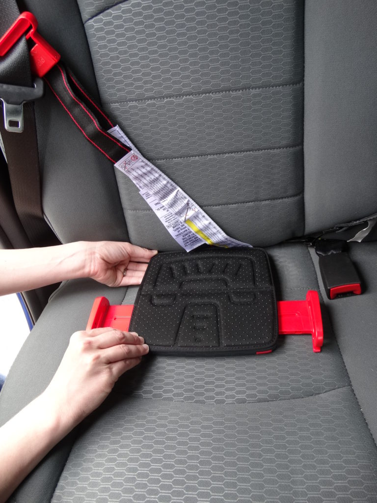 So this product is absolutely amazing, and I'm so excited to share it with you! It's the  mifold Grab-and-Go Car Booster Seat , and it's honestly a life-saver for traveling with kids, and really for everyday life! Especially when you have multiple kids in car seats! mifold is the most advanced, compact and portable booster seat in the world, and it's more than ten times smaller than a regular booster. And most importantly – it's just as safe.  It's super simple to install too. You can do it in three easy steps. First, adjust mifold to fit the child: side arms width and shoulder strap length. Second, fasten seat belt and insert the lap belt into both mifold lap belt guides. Lastly, clip the mifold shoulder strap onto the chest seatbelt to hold it on the shoulder. That's it! You can watch  this video  to see exactly how easy it is.  Luca loves his new seat, and we will definitely be getting mifold booster seats for Enzo and Sonny when they reach that stage. They come in a bunch of fun colors too. You can order yours  here !
