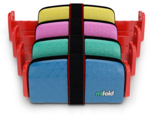mifold is more than 10x smaller than a regular booster seat and just as safe.