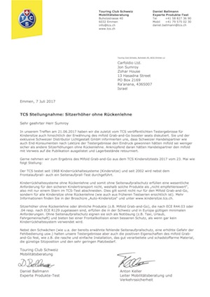 TCS Letter (German)