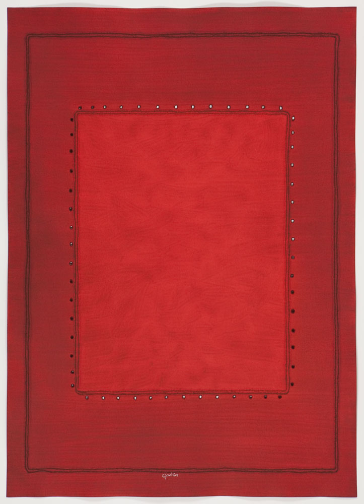 "Griha , 2009    Ink and dye on paper    55 x 39 ""    139.7 x 99.06 cm    (Inventory# SQ845[HK])    Stock NY    $59,000"