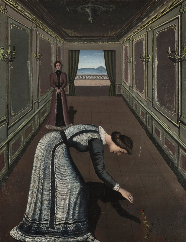 Femme a la rose, 1936.Oil on Canvas