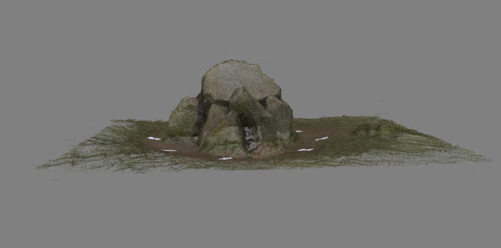 Point of view I , 3D model of neolithic henge 'The Giant's Ring' created by photogrammetric surveying
