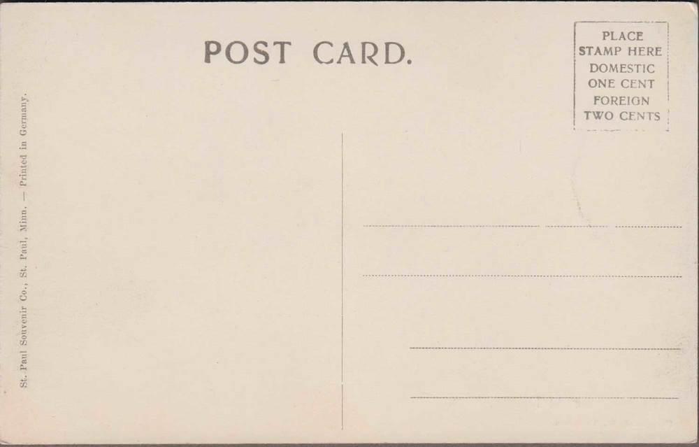 10. Crow River Color-tinted Postcard Back