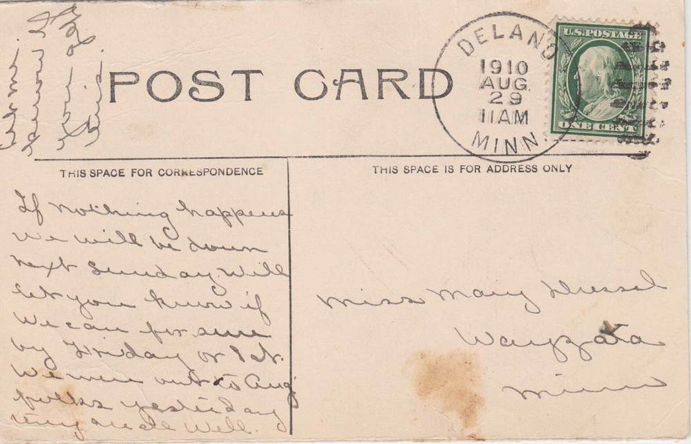 13. Delano High School Postcard Back II