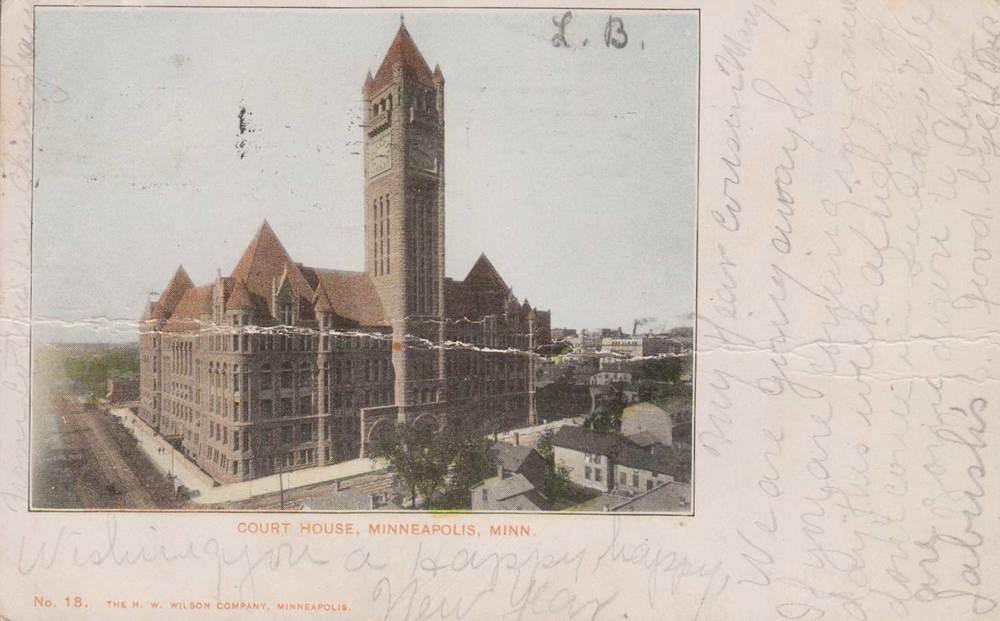 17. Minneapolis Courthouse Postcard