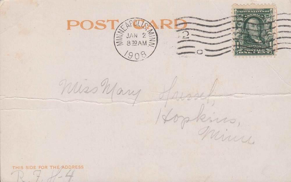 18. Minneapolis Courthouse Postcard Back