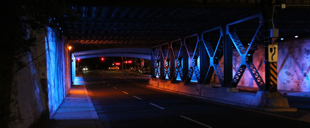 BlueGold Variations - CNR Underpass, High Wind