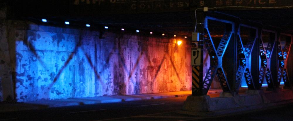 Dereck Revington Studio - BlueGold Variations - CNR Underpass, Medium-High Wind