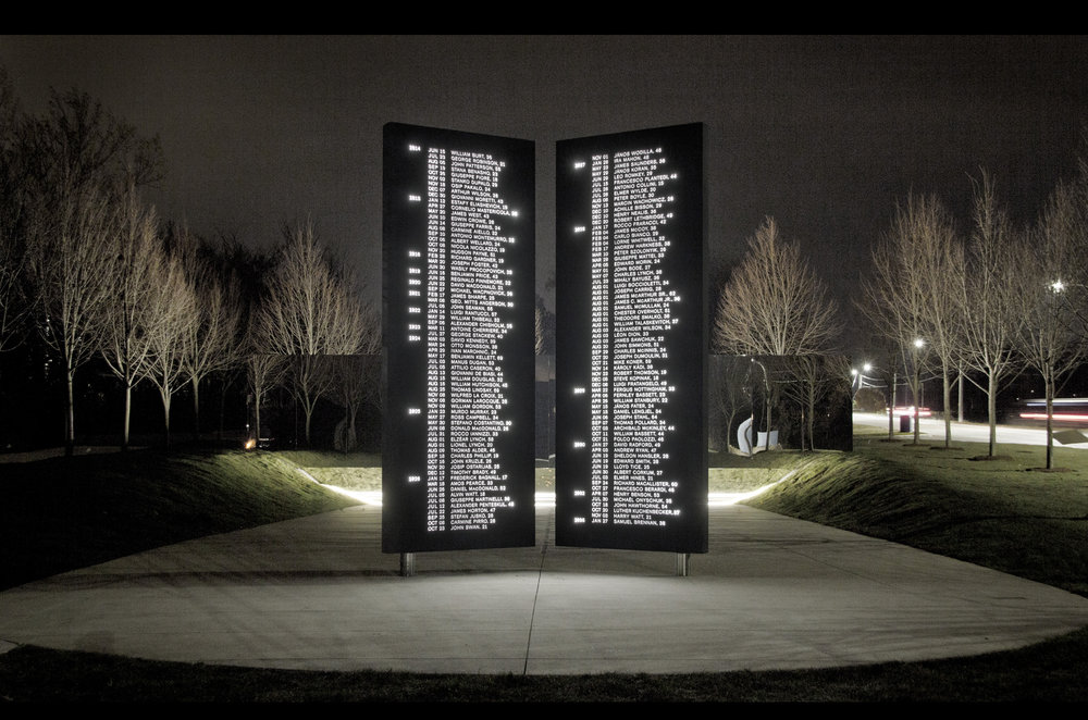 Dereck Revington Studio - Welland Canal Fallen Workers Memorial - Gates of Remembrance