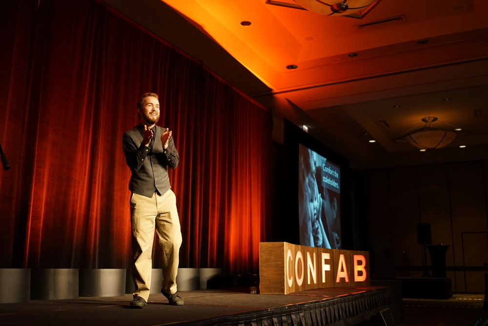Here I am at Confab, talking about how to comfort stakeholders during a project.