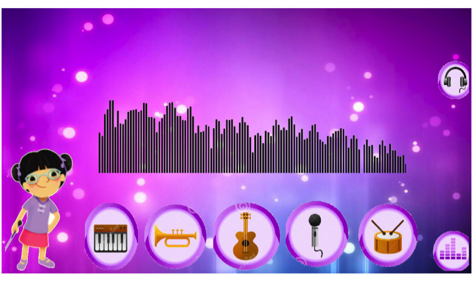 Melody's Music Camp: This is my Song:  The User is given the opportunity to create his/her  own song by clicking on certain instruments and musical notes. The User is  able to enjoy the finished musical composition along with Melody.