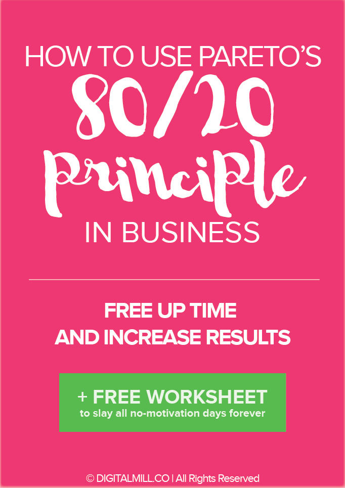 the one principle to use to free up time and increase results in business