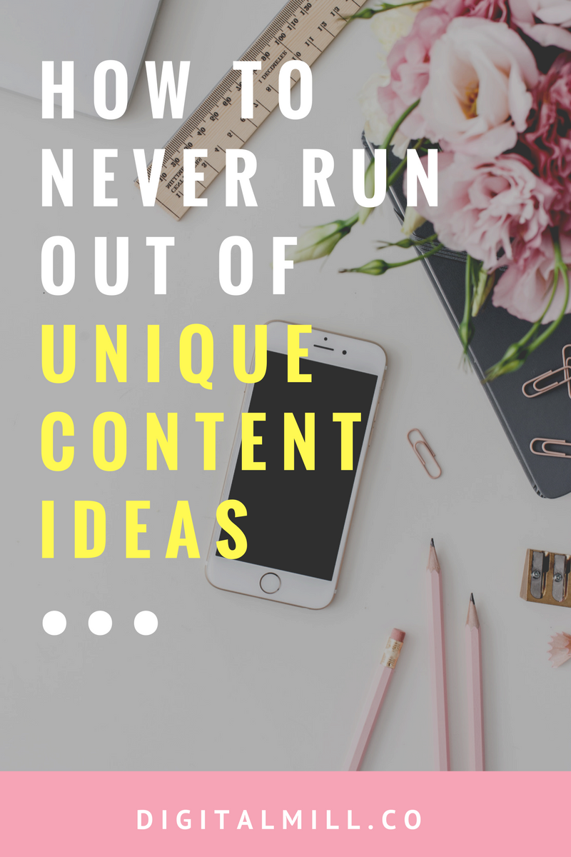 Unique content ideas for bloggers