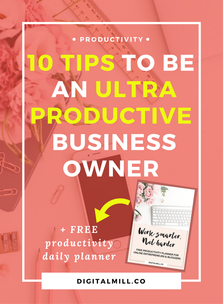 Being a solo entrepreneur or blogger is not the easiest job in the world, that is why I am sharing 10 productivity tips on how to be productive as a business owner and blogger (with a free productivity daily planner) for you to get started.