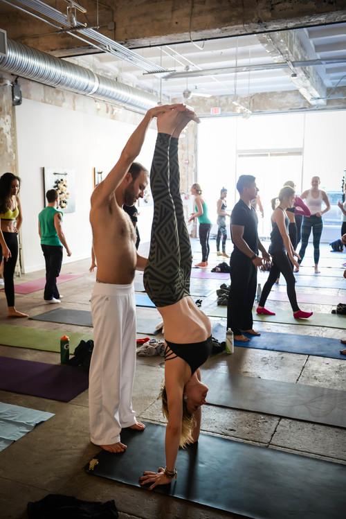 Grip The Mat Yoga, Bendy Brunch, Longview Gallery, Sunday February 15, 2015, Photo by Ben Droz.
