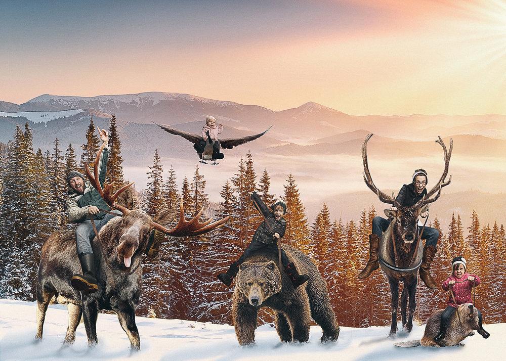 """2015 Christmas Card """"A Very Canadian Christmas"""""""