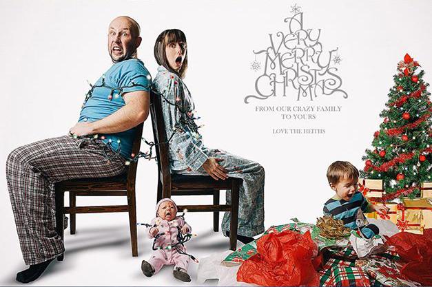"""2012 Christmas Card """"Hijacked Christmas"""""""