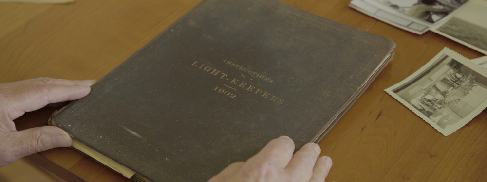 Lightkeeper Instruction Manual - While interviewing and filming with Fred Mikkelsen, he pulled out some old photographs of his time spent at Conimicut as well as a light keepers manual dating back to 1902.
