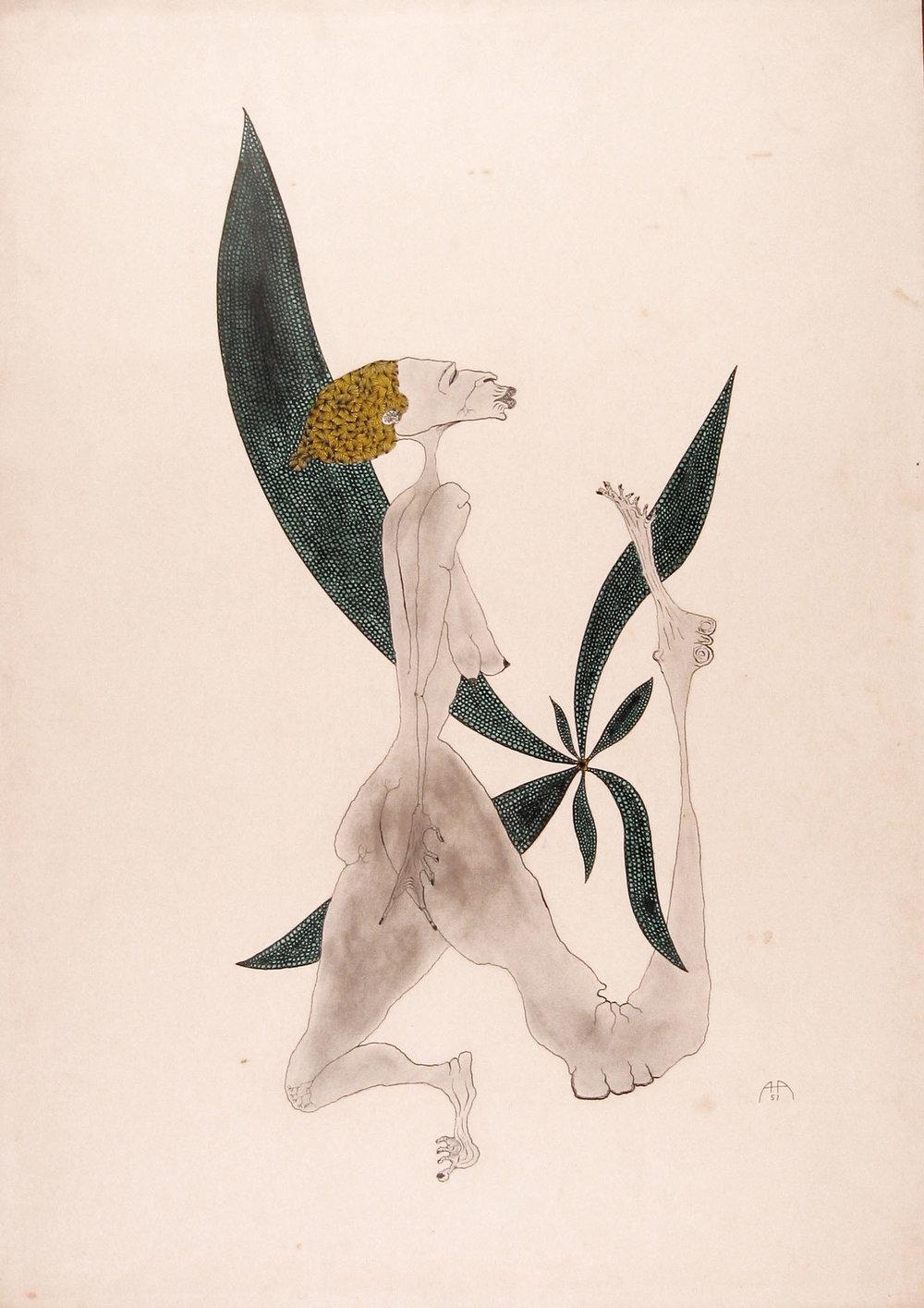 1957.10 - Mulher com folha verde.jpg