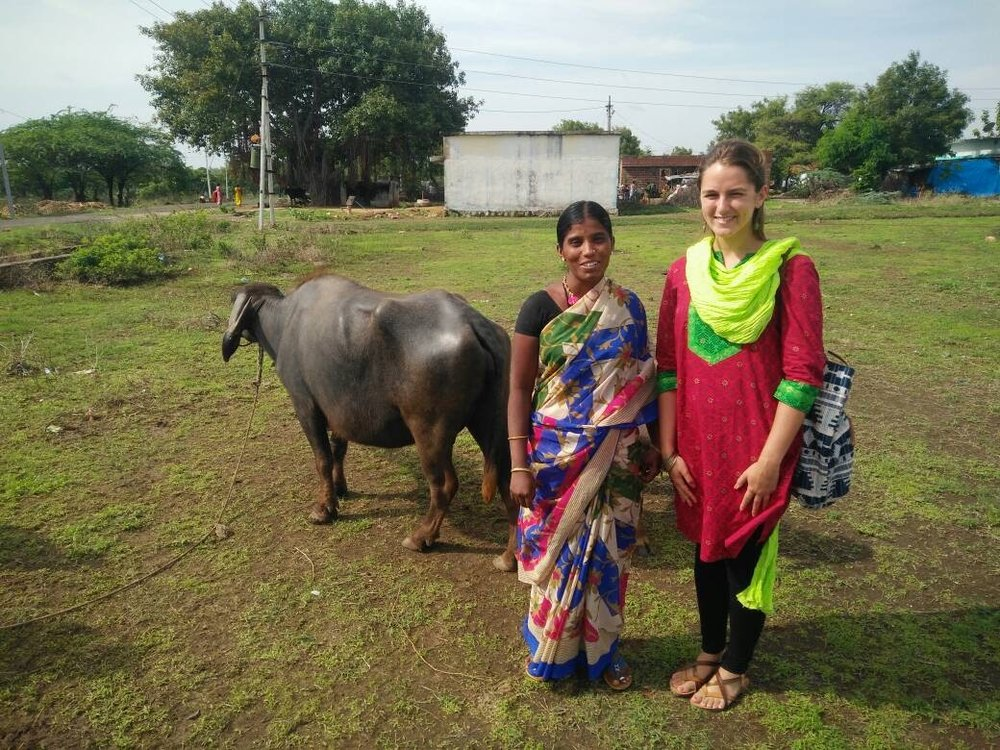 Vaya borrower Sutina graciously let me take a photo with her and her buffalo. / June 21, 2017.