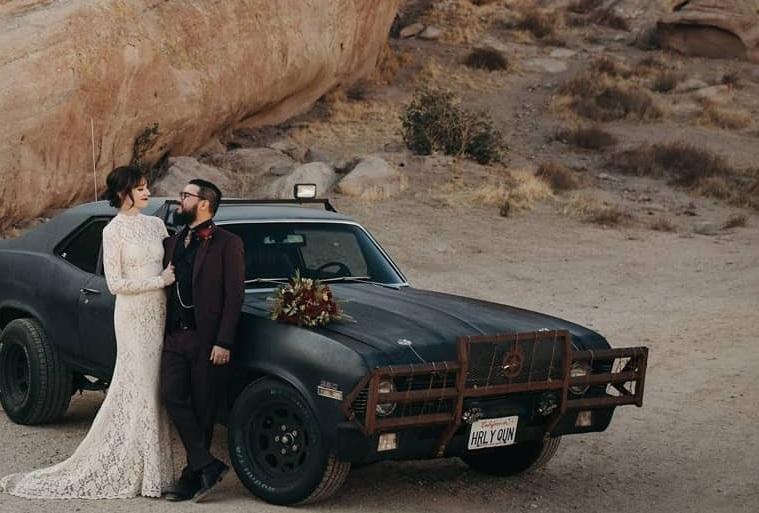 Photos from Maggie + Aram's backyard wedding by J onathan Yacoub .