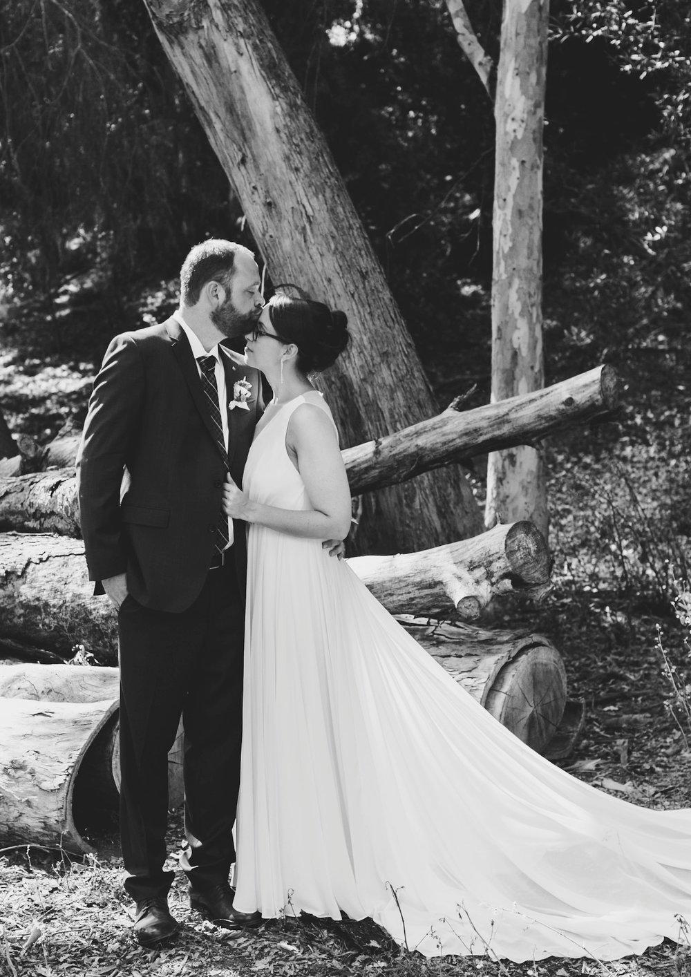 Christine + Wade on their wedding day. Photo by  Kathy DeNinno.