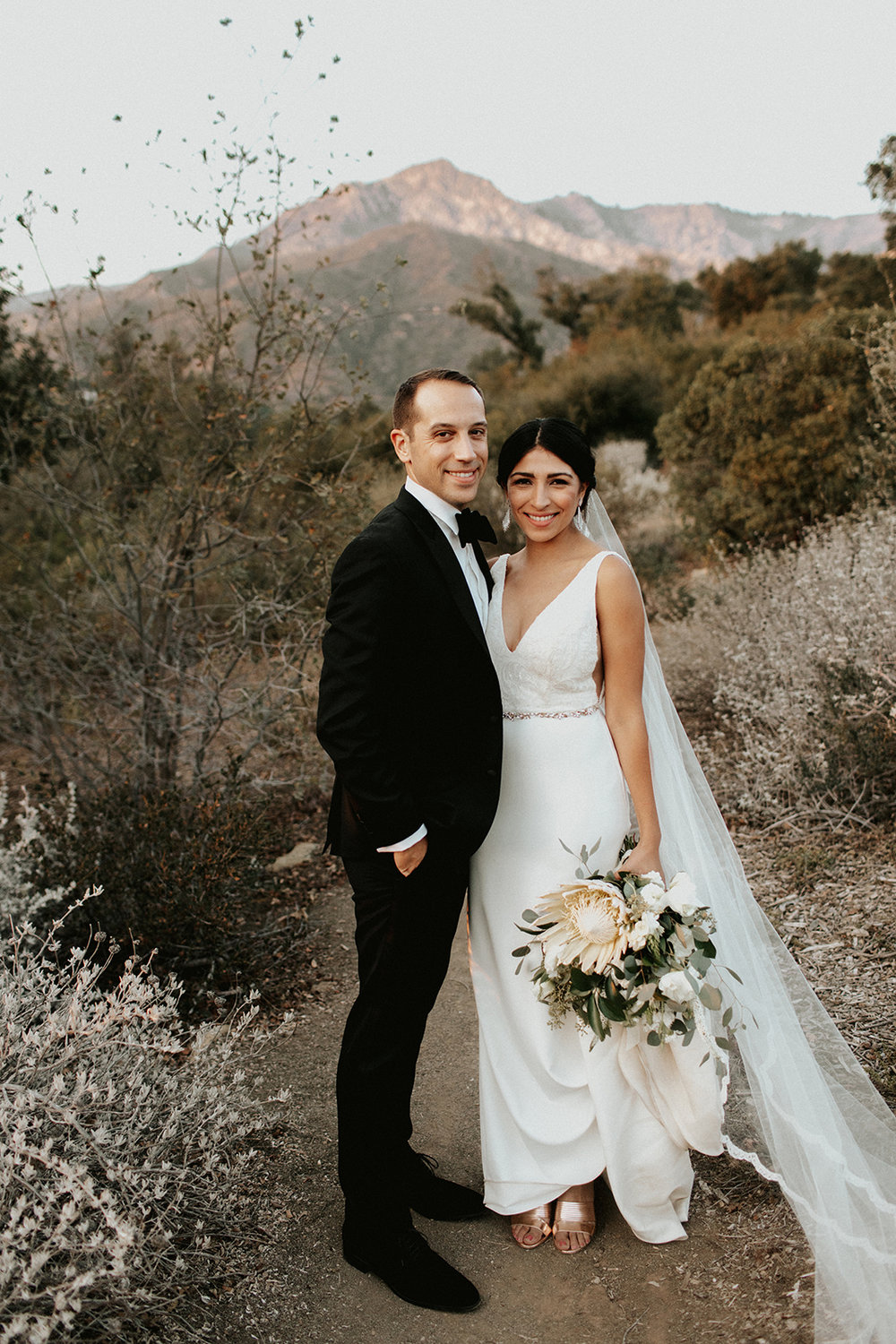 Bianca + Joel up in the Santa Barbara Mountains. Photo by  Christine Flower  Photography.