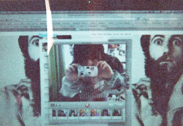 Yaya Sunginher room atAbbey Road 25. Cambridge 2010. Using Photobooth and Disposable Camera to take her self portrait.
