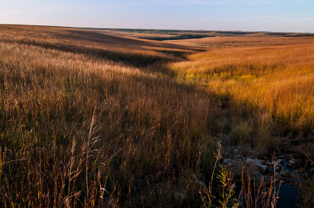 Fall Sunset Colors & Shadows in the Flint Hills