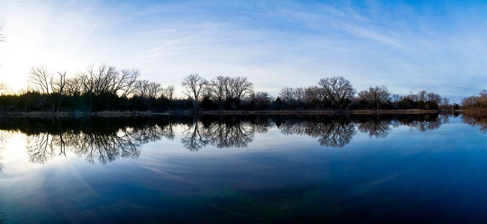 Sunset Winter Reflection