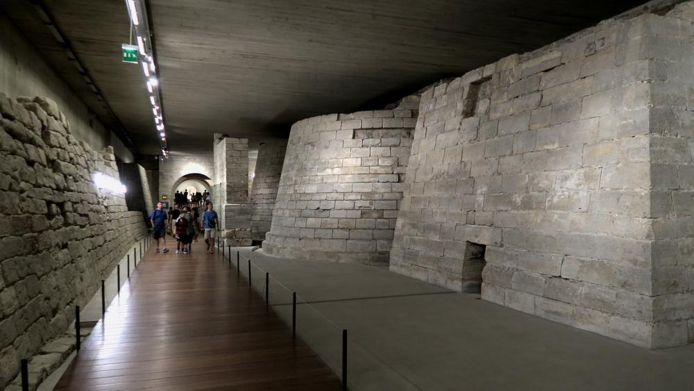 Medieval Louvre's walls underground