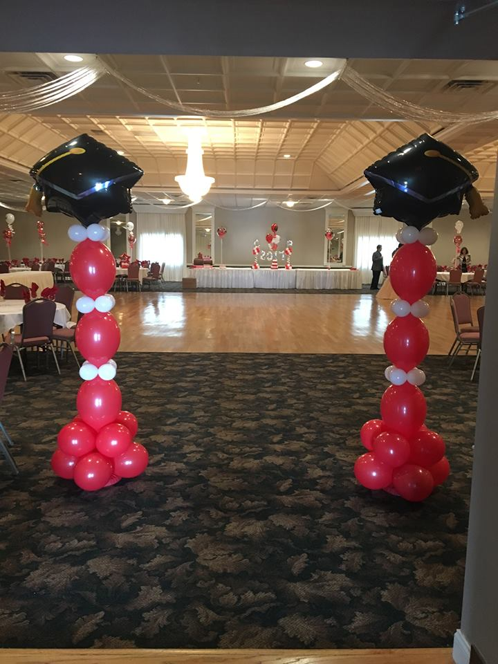 Red & White Grad Entrance