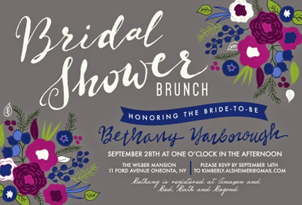 berry themed bridal shower brunch