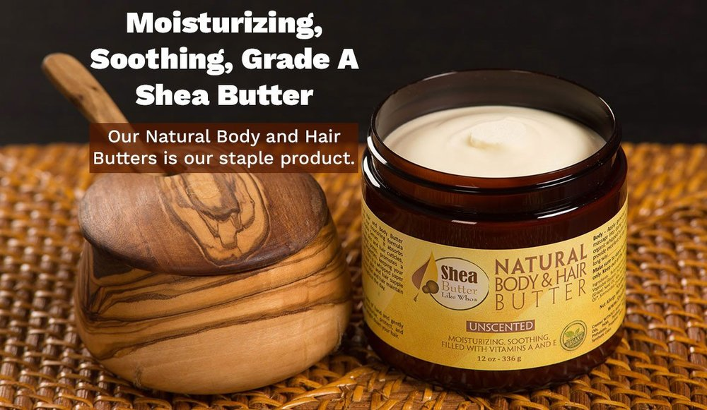 Shea Butter Like Whoa - Last winter I was I trying to manage chronic eczema flare ups on my neck and arms. I had tried a number of different ointments, potions, and lotions promising to stop the itching and calm the flare ups but nothing worked. While scrolling through my IG feed I saw Shea Butter Like Whoa and was immediately taken by the name. I reached out the owner, Terry, and shared my story with him and he recommended his amazing product. I was not disappointed. No eczema flare ups since 2017.Shea Butter Like Whoa ingredients are derived from nature which includes Grade A certified butters, natural and certified organic oils, and certified organic essential oils.+Paraben FREE+Sodium Lauryl Sulfate, Sodium Laureth Sulfate FREE+NO Phthalates+NO Propylene Glycol+NO Mineral Oil, PBA, Petroleum+NO Paraffin, DEA, Synthetic Color or Animal ProductsClick here for details