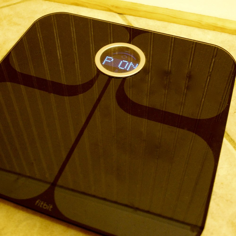 THE ARIA scale measureS to 1/10 of a pound. it's wireless, measureS body fat % and has proven consistent and accurate.