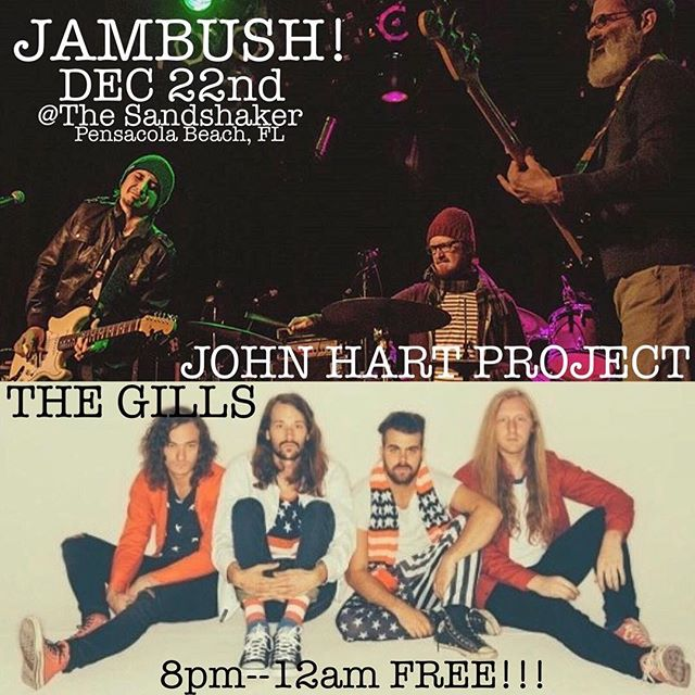 This Thursday night Pensacola! We are teaming up with @johnhartproject for a super jam at the Sand Shaker on Pensacola beach! 8pm-12am FREE! Also we will be playing the following night at @vinylmusichall for a benefit supporting the Blake Doyle Community Park! So excited to be a part of both! See y'all soon ‼️‼️‼️‼️‼️‼️‼️‼️‼️‼️‼️‼️
