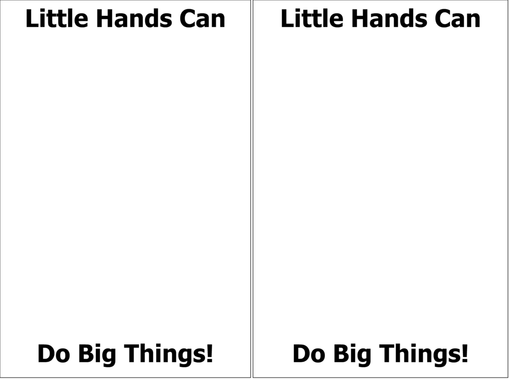 This is the template to that you can use for your child's handprint.