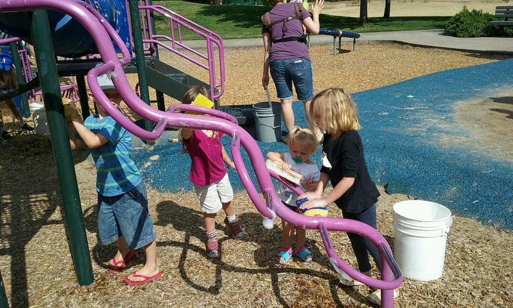 July 13 and August 10 we held playground washes at city parks to get the playgrounds at Oakmont and Bond Lane Parks sparkly clean.