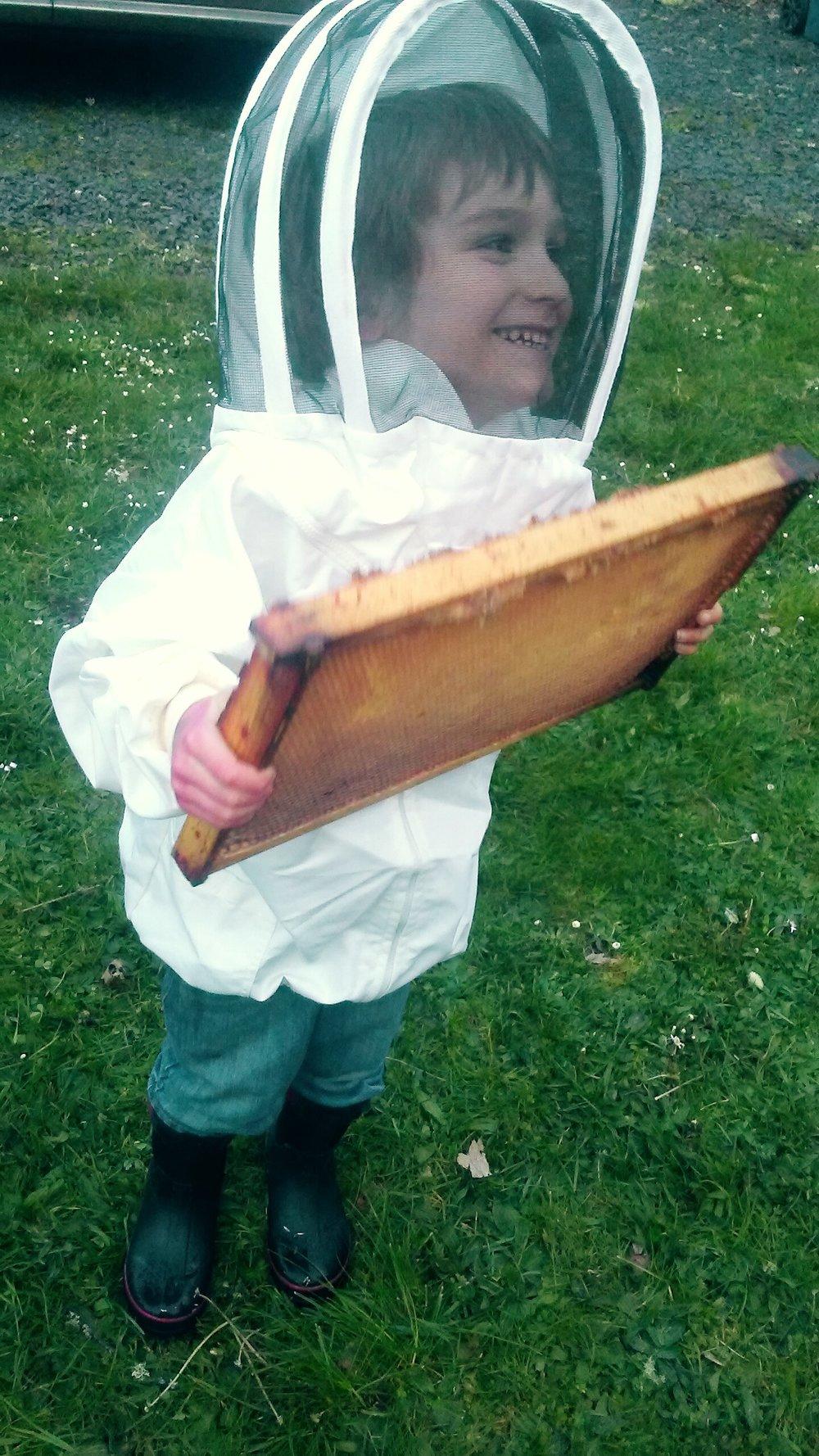 little hands can serve simple service backyard beekeeping