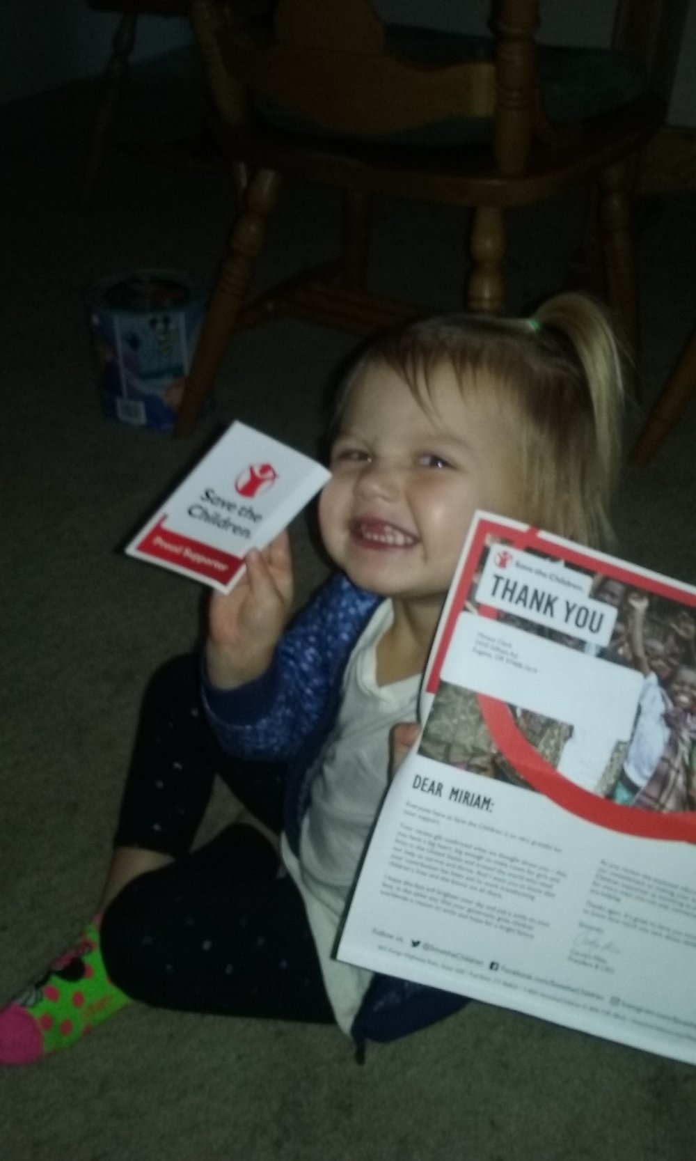 "Ivory was absolutely ecstatic when we got a ""Thank you"" in the mail from the Hurricane Maria Children's Relief Fund"