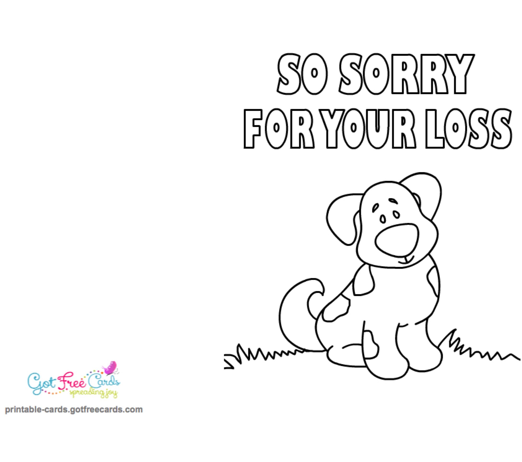 picture about Sorry for Your Loss Printable Cards named Very little Fingers Can- Provide - Easy Assistance: Dog Sympathy Messages