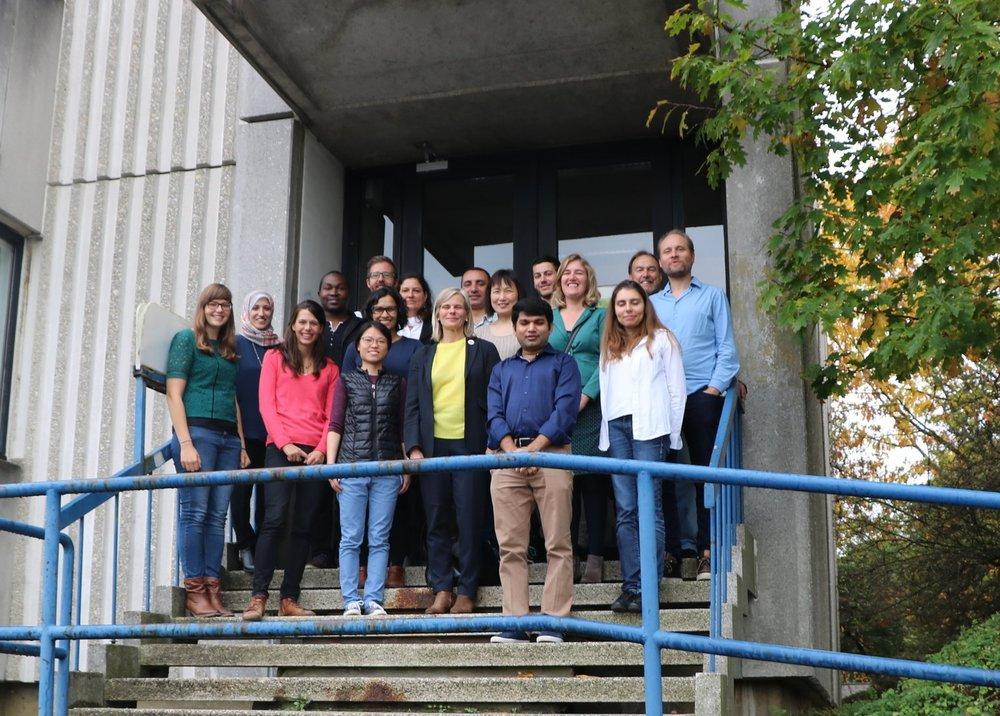 HYDR team with the VUB Rector Prof. dr. Caroline Pauwels