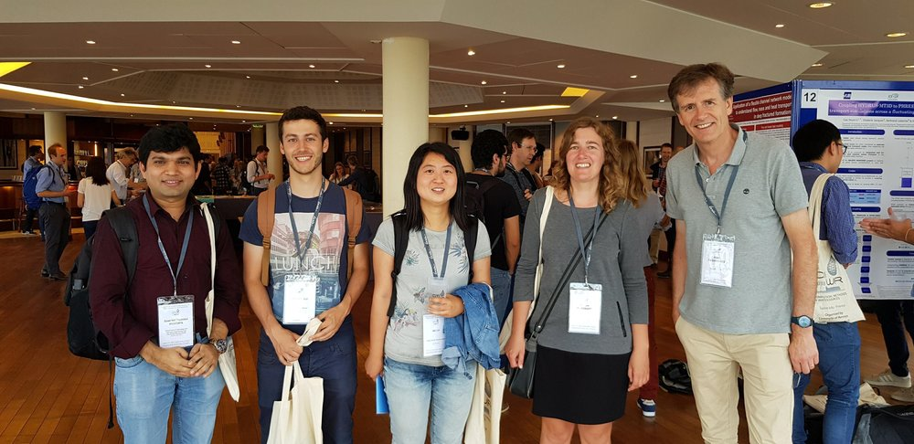 HYDR team at the Computational Methods in Water Resources (CMWR 2018) conference in Saint-Malo, France